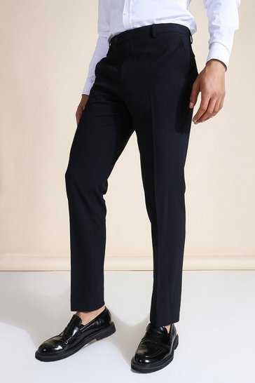 Slim Navy Suit Trousers