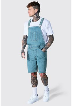 Antique blue Relaxed Fit Short Dungaree