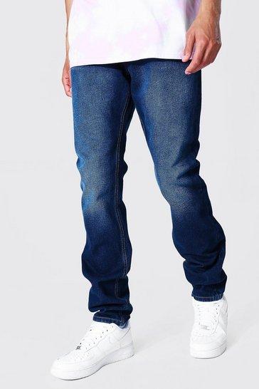 Indigo blue Tall Slim Rigid Jean