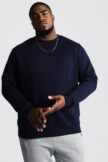 Navy Plus Size Basic Sweater