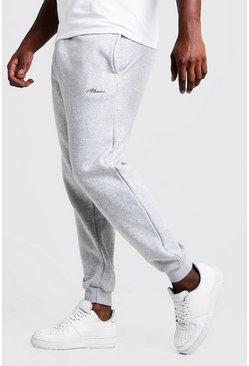 Grey marl grey Big and Tall MAN Script Slim Fit Jogger
