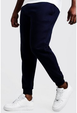 Navy marinblå Big & Tall - Basic skinny joggers