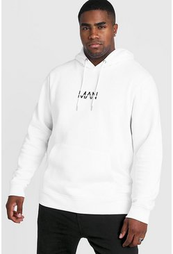 White Big and Tall MAN Dash Hoodie
