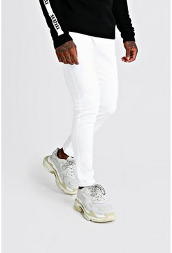 Skinny Fit Denim Jeans In White