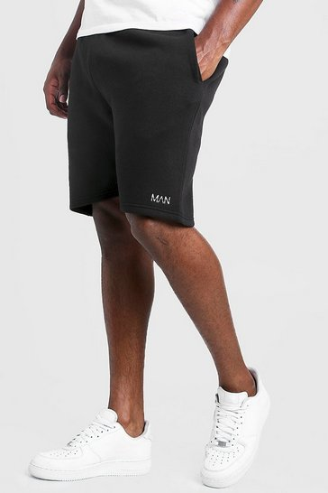 Black Plus Size MAN Dash Skinny Fit Short