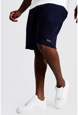 Navy marinblå Big & Tall - MAN Dash Shorts i skinny fit