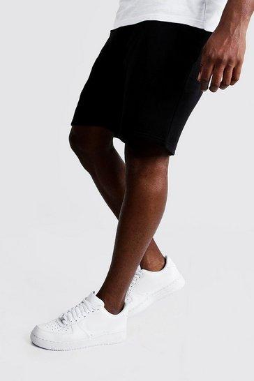 Black Plus Size Basic Skinny Fit Jersey Short
