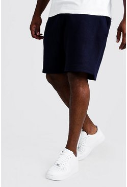 Navy Big and Tall Basic Skinny Fit Jersey Short