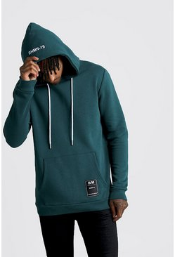 Teal green Over The Head Hoodie With BHM19 Tab