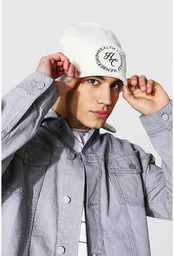 Ecru white Health Club Skater Beanie