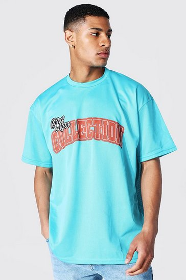 Blue Oversized Varsity Collection T-shirt
