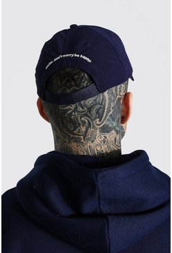 Navy Be Happy Curved Peak Cap
