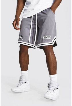 Charcoal grey Basketball Varsity Mesh Tape Shorts