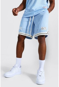 Blue Basketball Varsity Mesh Tape Shorts