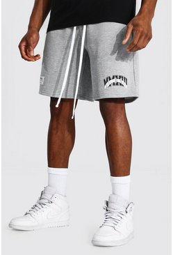 Grey marl Basketball Varsity Jersey Shorts
