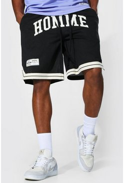 Black Basketball Homme MeshTape Shorts