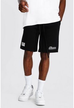 Black Basketball Homme Jersey Shorts