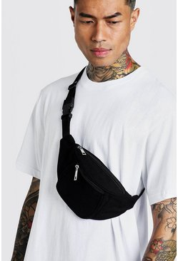 Black Nylon Pocket Fanny Pack