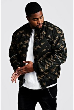 Big  & Tall Utility-Jacke in Camouflage-Print