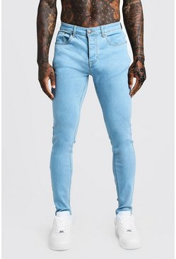 Pale blue blå Skinny jeans i denim