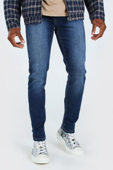 Mid blue blue Skinny Fit Denim Jeans