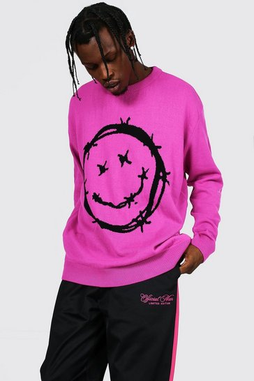 Pink Barbed Wire Face Jumper