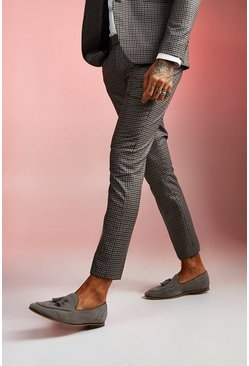 Brown Heritage Gingham Skinny Fit Suit Trouser