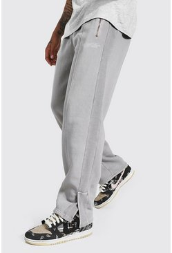 Beige Relaxed Official Man Jogger With Split Hem