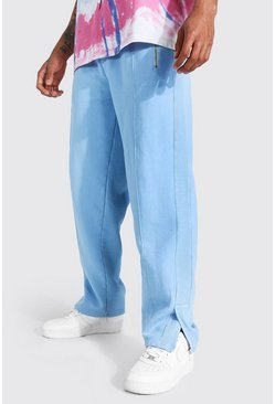 Dusty blue Relaxed Official Man Jogger With Split Hem