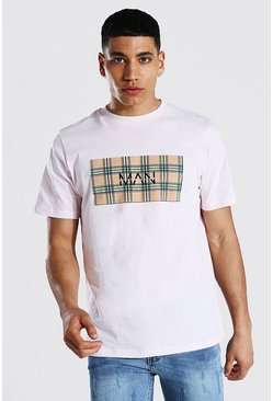 Pink Original Man Check Box T-shirt