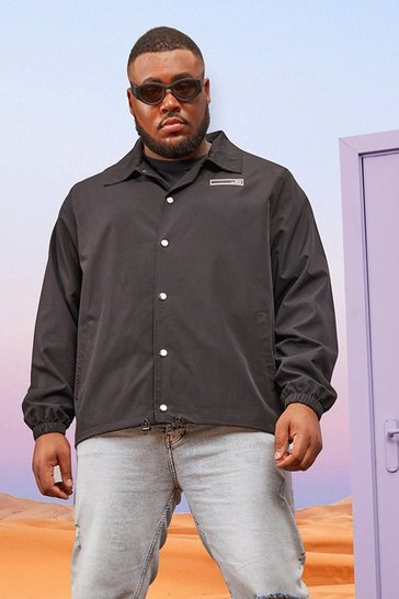 Black Plus Lightweight Popper Front Harrington
