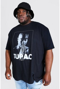 Black Big and Tall Tupac License T-Shirt
