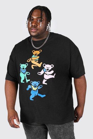 Black Plus Size Grateful Dead License T-shirt
