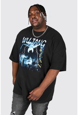 Black Plus Size Lightening Wu-tang License T-shirt