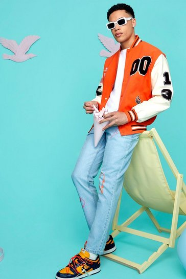 Orange Official 00 Varisty Bomber