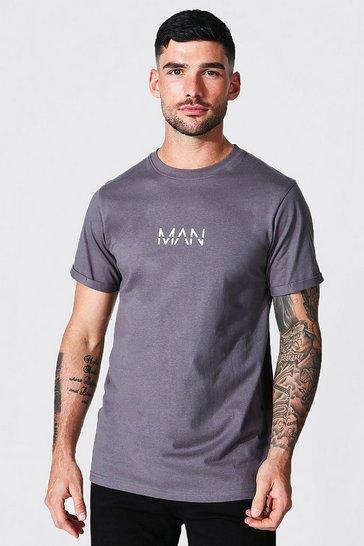 Charcoal grey Original Man Roll Sleeve T-shirt