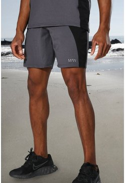 Charcoal grey Man Active Tonal Colour Block Short
