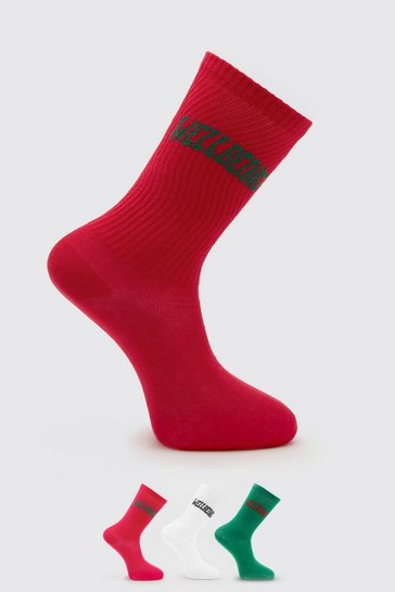 Multi 3 Pack Wellbeing Socks