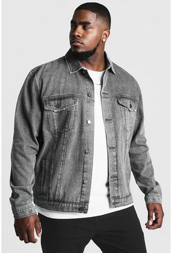 Charcoal grey Big & Tall Denim Western Jacket