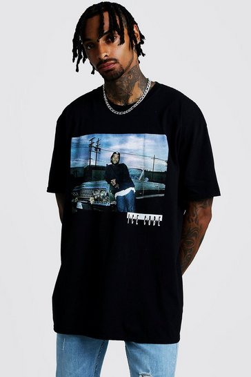 Black Ice Cube Oversized License T-Shirt