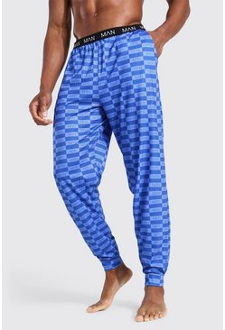 Blue Man Box Print Lounge Jogger
