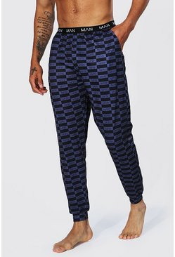 Black Man Box Print Lounge Jogger