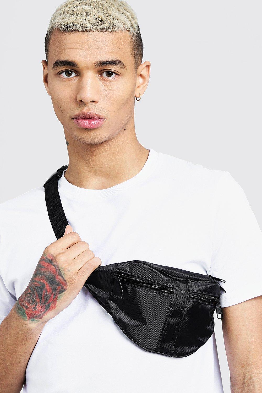 Men's Accessories 2 Front Pocket Nylon Bumbag