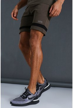 Khaki Man Active Jersey Short
