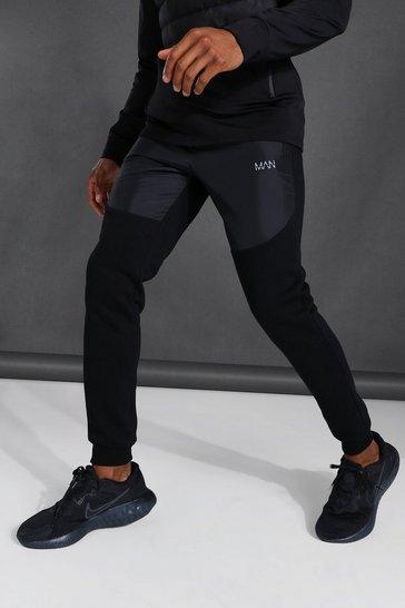Black Man Active Matte Panel Joggers