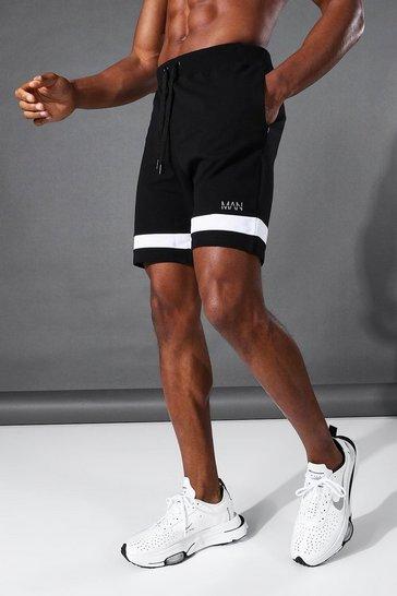 Black Man Active Jersey Short