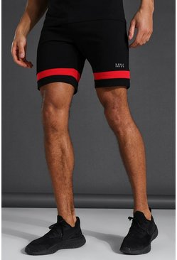 Black Man Active Jersey Short