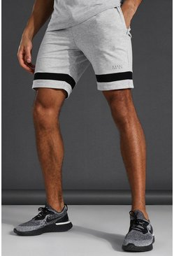 Short en jersey - MAN Active, Grey marl gris