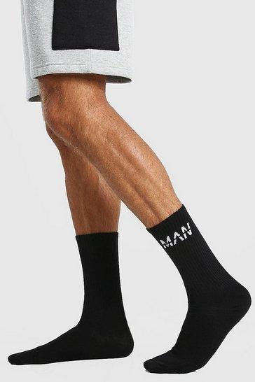Black MAN Dash 7 Pack Sport Socks