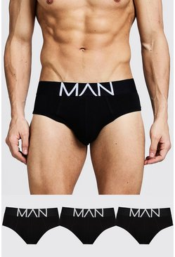 Black svart 3 Pack MAN Logo Briefs